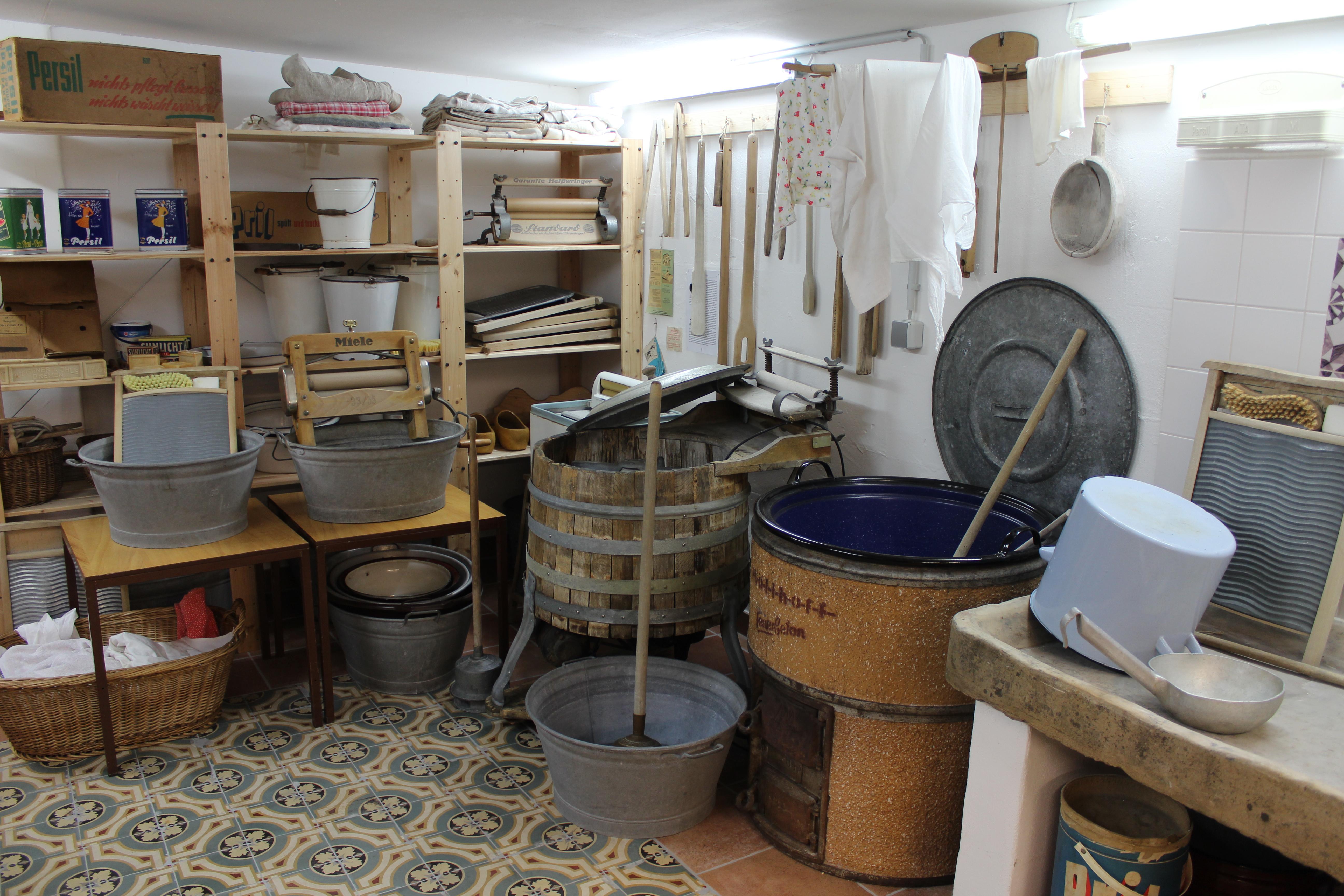 Waschküche der waschküche zur waschmaschine ansehen dat lüttje museum