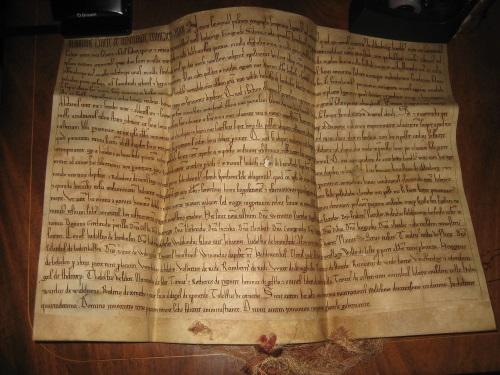 Urkunde erste Erwähnung Arstens