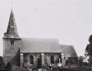 Die Arster Kirche nach der Renovierung 1899