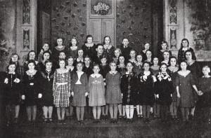 Kircherchor auf dem Saal von Wrede 1936