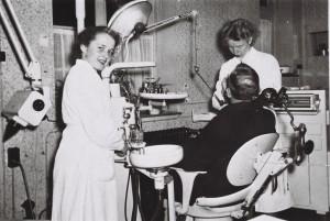 Zahnarztpraxis von Frau Vahsen um 1950