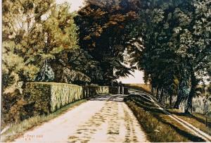 Weg zum Korbhaus – Gemälde von Christian Seebade 1929