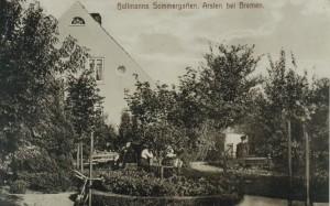 Postkarte von Bollmanns Sommergarten um 1920