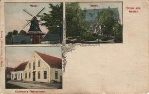 Postkarte von Grothenns Etablissement an der Arster Heerstraße um 1900