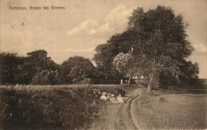 Weg zum Korbhaus - Postkarte von 1913