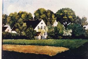Das Korbhaus – Gemälde von Christian Seebade um 1929