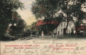 Sommerwirtschaft Korbhaus als Schmugglerherberge sehr - Postkarte von 1905